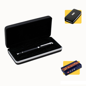 Image 5 - Hot Sale Writing Stationery Duke High Quality Black and Silver Rollerball Pen with Original Gift Case 0.7mm Metal Ballpoint Pens