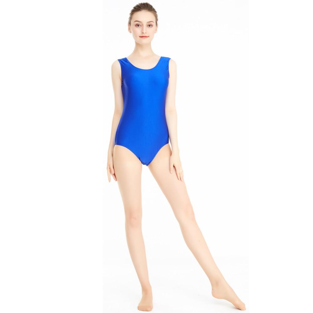 Women's Tank One Piece Leotard Ballet Dance Short Unitard Gymnastics Girls Lycra Dance Wear Tops