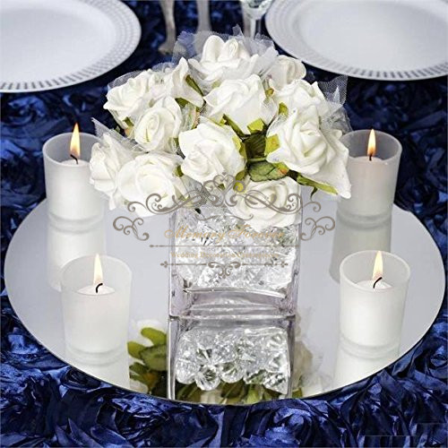Mirror Table Decorations: Round Square Acrylic Mirror Wedding Party Table