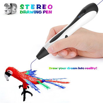 DIY 3D Pen 3D Printer Pen 3D Printing Magic Pen ABS Filament Magic Maker Arts Drawing Tool for Birthday Gifts EU/US/UK/AU Plug