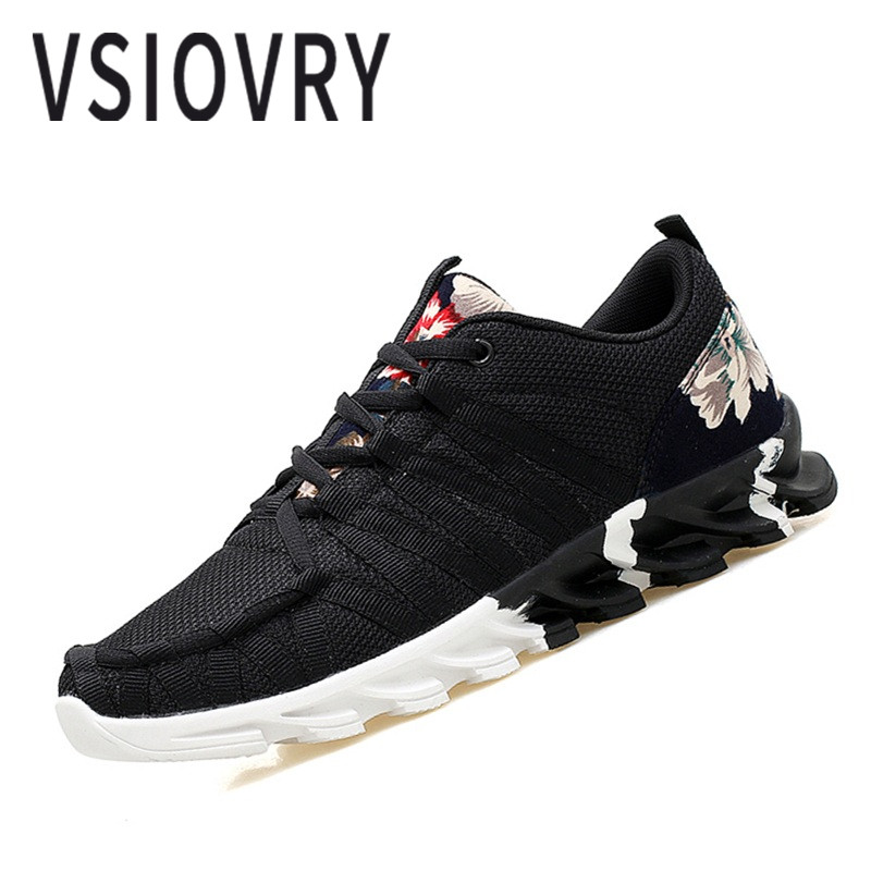 Sneakers Vsiovry Big Size Men Running Shoes Breathable Cushioning Soft Sneakers For Men Spring Summer Outdoor Walking Jogging Sport Shoes