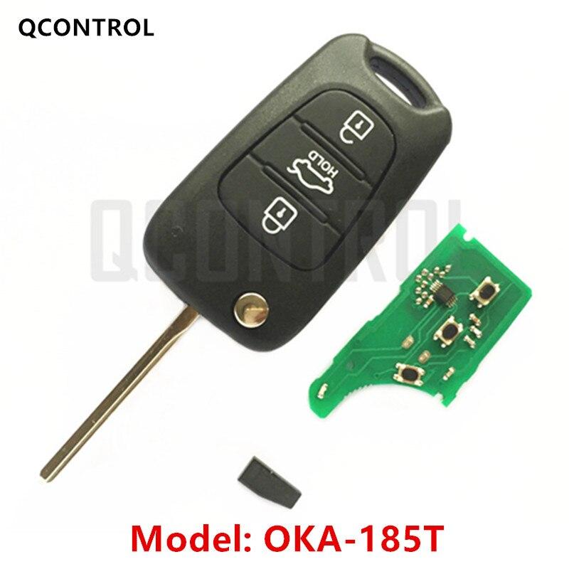 QCONTROL Voiture À Distance Clé Costume pour KIA OKA-185T Voiture Véhicule Alarme 433 MHz Émetteur ASSY 433-EU-TP CE 0682