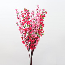 10Pcs/Lot 65Cm Artificial Peach Cherry Blossom Silk Fake Flowers Home Wedding Simulation Flower Garland Party Decoration LA02
