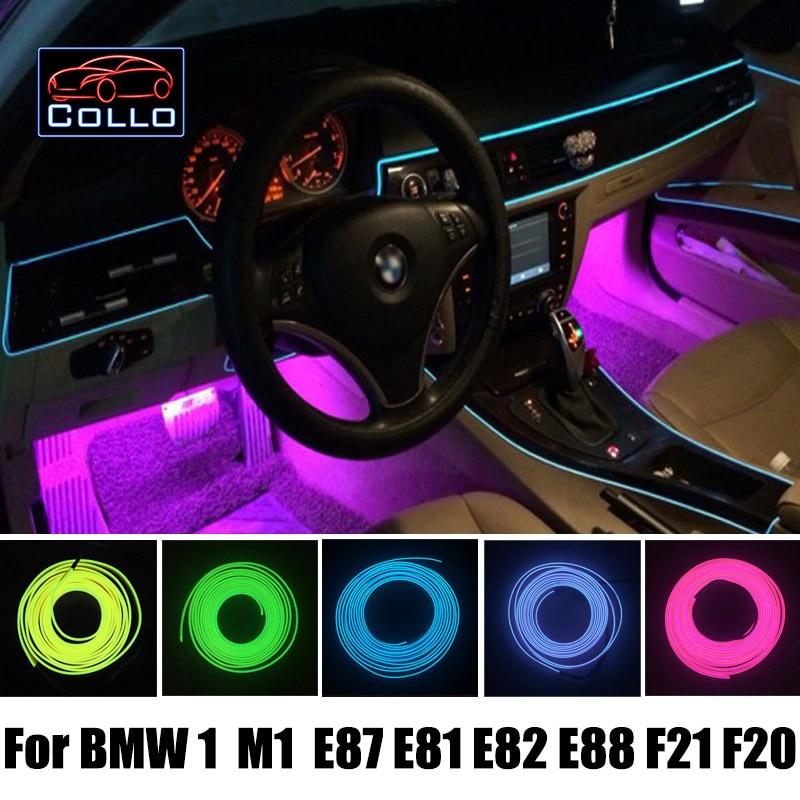 LED Flexible Neon Cold Light / 9 Meter EL Wire For BMW 1 M1 E87 E81 E82 E88 F21 F20 / Car Central Control Desk Decorative Strip проигрыватель blu ray lg bp450 черный