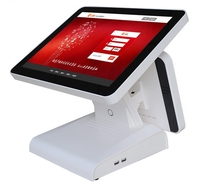 15 inch 4G pos system touch display cash register android pos terminal with HDMI double display desktops