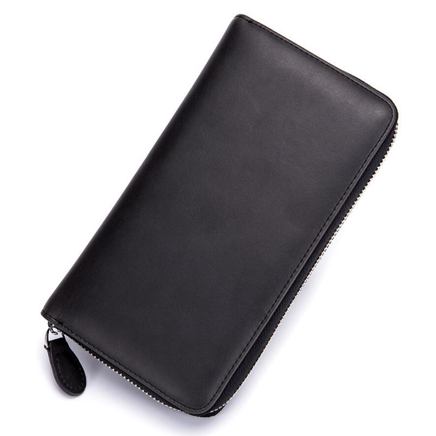 DISNOCI Anti Theft Women&Men Wallets Genuine Leather Unisex Passport Cell Phone Wallet RFID Blocking Card Purse 36 Card Holder
