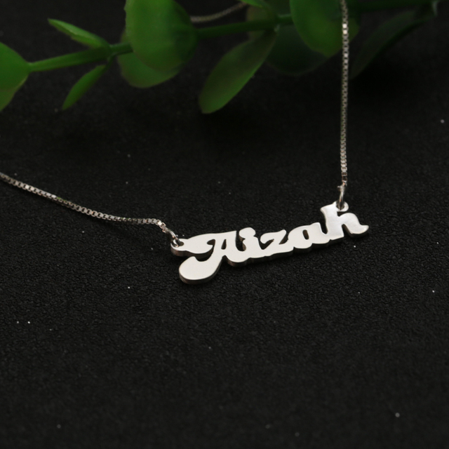 Customized name box chain necklace solid silver personalized pendant customized name box chain necklace solid silver personalized pendant jewelry christmas gift aloadofball Gallery