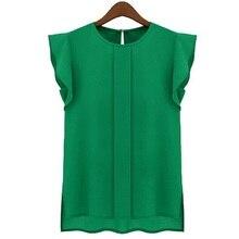 Новый 2017 женская Мода Случайные Свободные Рукавов Шифон Жилет Танк Т Рубашка Топы S, M, L, XL