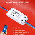New itead sonoff wi-fi inteligente interruptor interruptor inteligente sem fio universal diy mqtt coap android ios controle remoto para smart home