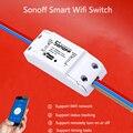 Nueva itead sonoff wifi smart switch inteligente universal diy interruptor mqtt coap android ios de control remoto inalámbrico para el hogar inteligente