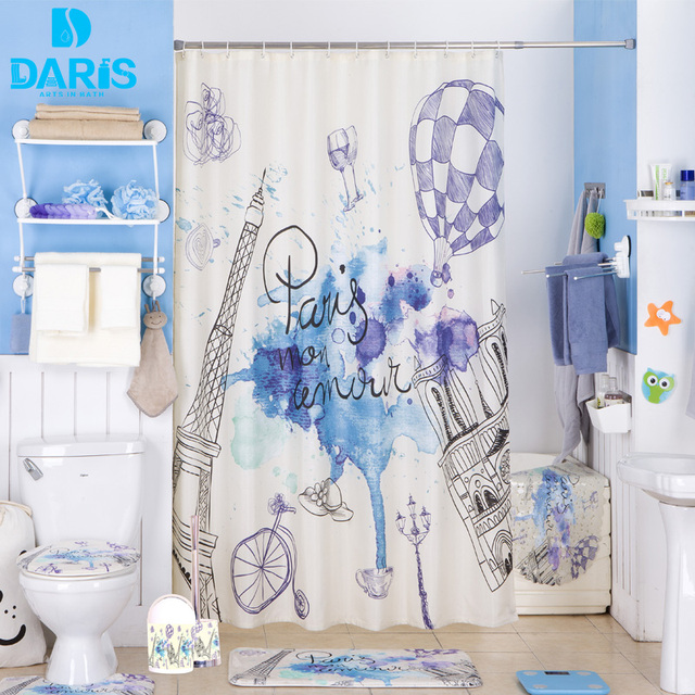 Daris salle de bains rideau de douche 180x180 cm en plastique salle de bains pvc tapis de bain - Rideau de douche 180x180 ...
