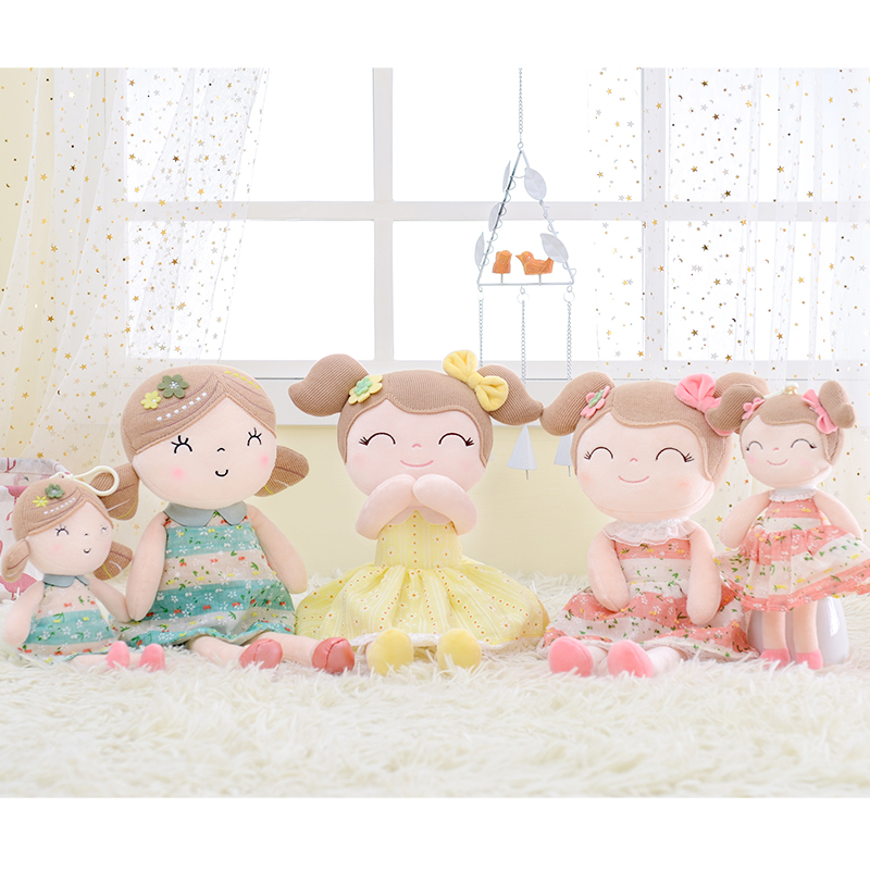 Gloveleya Plush Dolls Spring Girl Baby Doll Gifts Cloth Dolls Kids Rag Doll Plush Toys Kawaii Soft Plush Gift