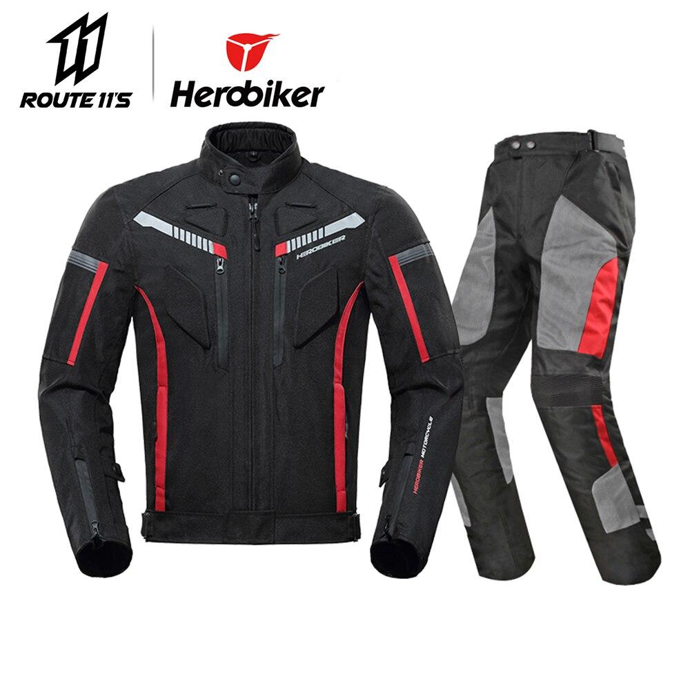 Hrobiker veste de Moto équipement de protection hommes Moto Motocross veste coupe-vent Moto Cruiser Touring vêtements imperméable