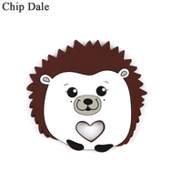 Chip Dale 5pc BPA Free Silicone Teethers Food Grade DIY Teething Necklace Ring Toys Baby Shower Gifts Cartoon Animals Teether
