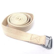 Эластичный ремень для йоги, прочный ремешок для упражнений из чистого хлопка, регулируемый ремешок с d-образным кольцом, обеспечивает гибкость для йоги, чистый хлопок