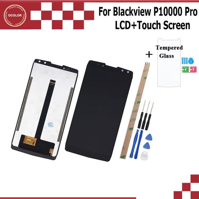 Ocolor pour Blackview P10000 Pro ecran LCD et ecran tactile pour Blackview P10000 Pro téléphone portable + outils et adhésif + Film
