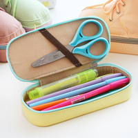 1pc Empty Korean Shoes Shape Cute Canvas Pencil Case Kawaii School Supplies Stationery Gift Storage Pen