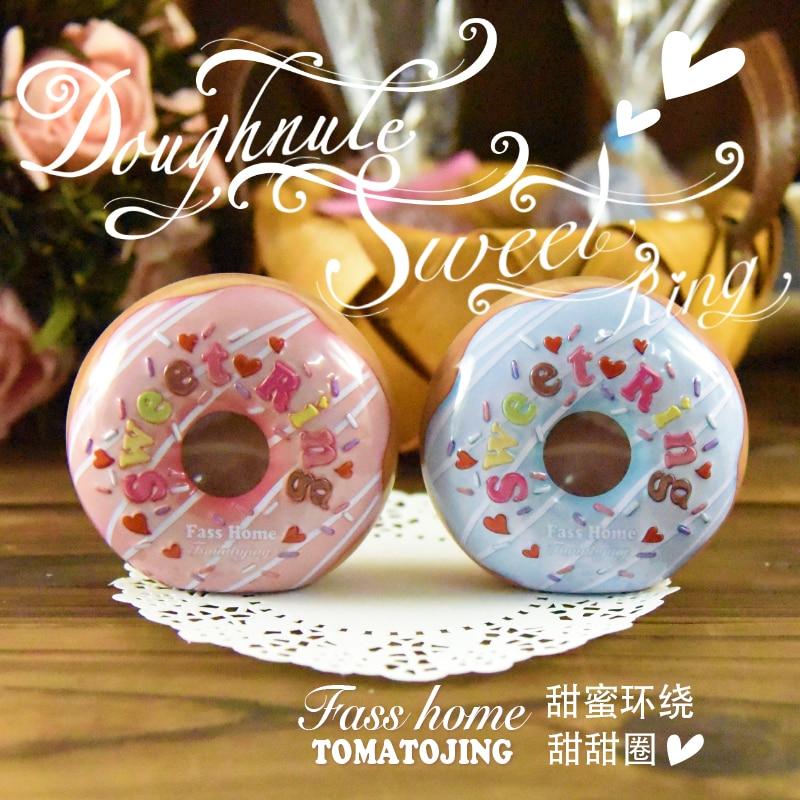 Creative donuts tin box wedding candy Iron cans children gift beautiful pattern box
