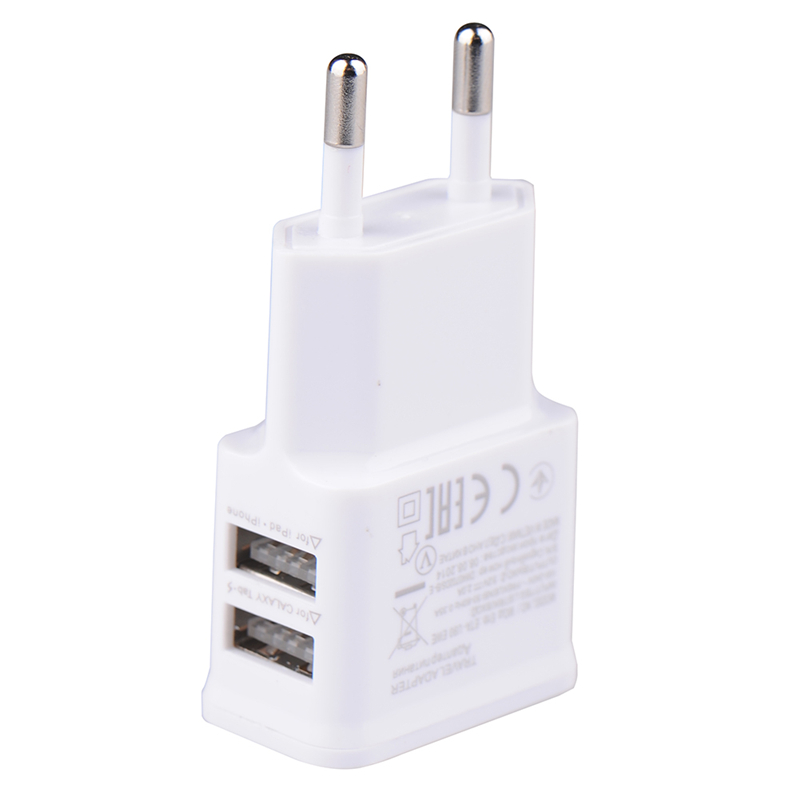 5V 2.0A  Plug Dual Double USB Universal mobile phone charger Wall AC Power Charger Home or Travel For iphone ipad ipod