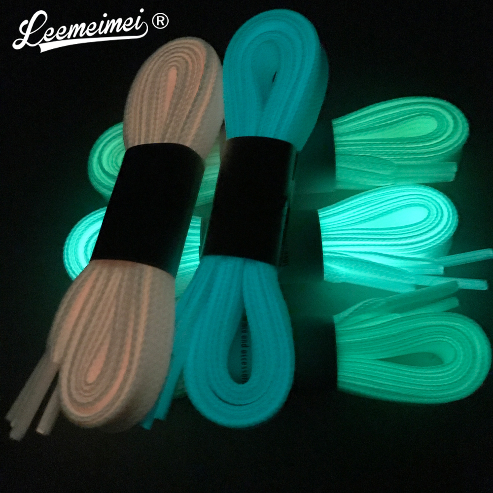 5pair Sport Luminous Shoelace Glow In The Dark Night Color Fluorescent Shoelace Athletic Sport Flat Shoe Laces 2 pcs 100cm luminous glow in the dark fluorescence shoelace shoe lace polyester nylon multicolor worldwide sale