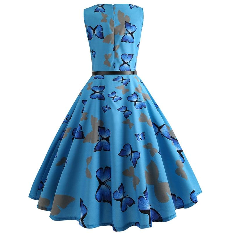 Blue Vintage Swing Dress 57