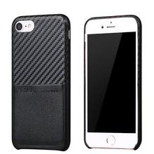 Новые углеродного волокна чехол для iPhone 7 6 6S 4.7 «чехол для iPhone 6 6S 7/плюс 5.5 «искусственная кожа Слот для карты Роскошный телефон чехол