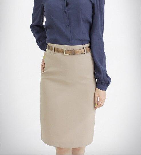 high waisted beige skirt dress ala