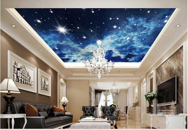 3d Stereo Universe Star Ceiling Wallpaper Mural Wallpaper