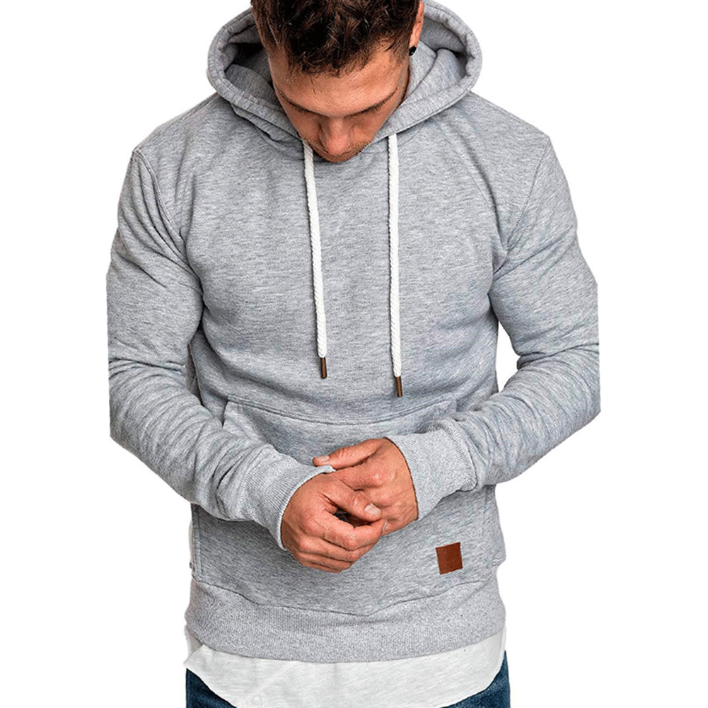 Men Tops Pullover Autumn Tops Solid Fashion Loose Pullover Sweatshirts