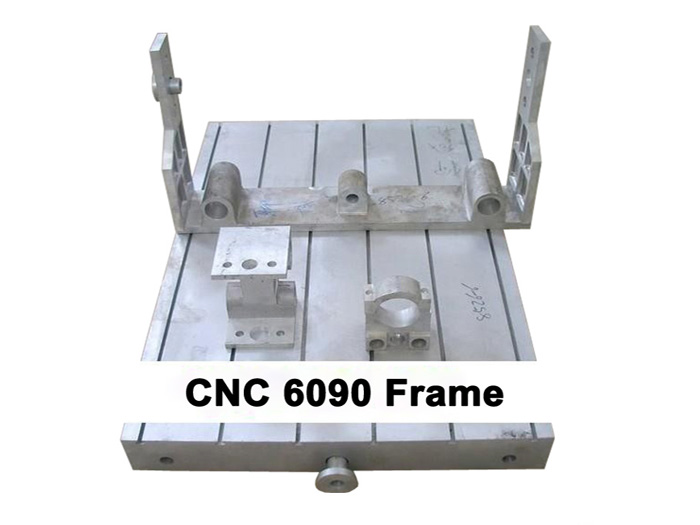 cnc 6090 aluminum frame engrave machine parts