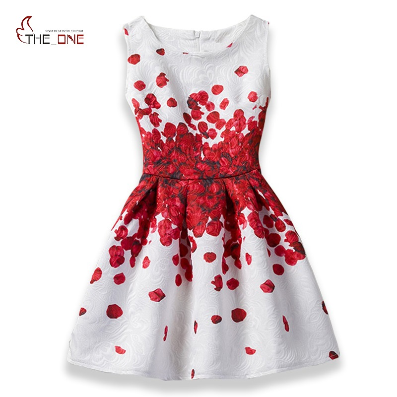 все цены на MUABABY 6-12T Floral Girls Dress Teenager Summer Sleeveless Colorful Print Princess Party Casual Dresses Kids Formal Clothes