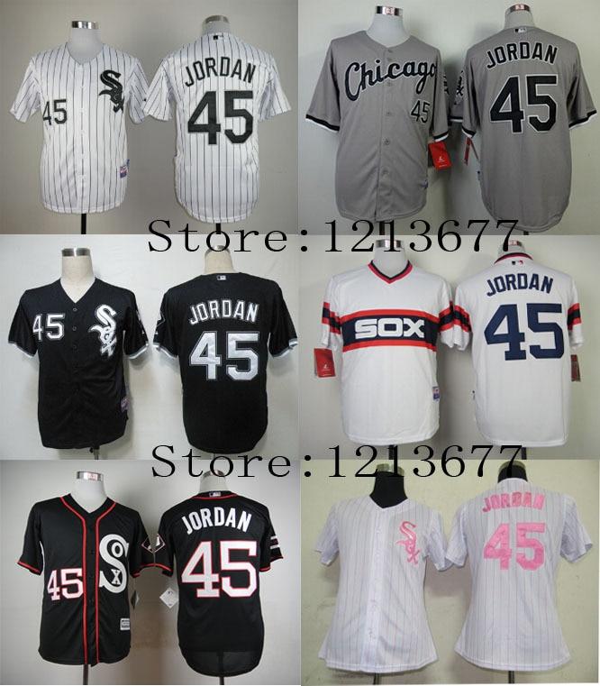 9245b8cf087 ... 45 Michael Jordan Jersey Chicago White Sox Jerseys Men Cool Base Cheap Baseball  Shirt Black Youth ...
