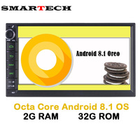2 Din Android 8.1 Octa Core 2G+32G Car Multimedia Player GPS Navigation Nniversal Video Car Audio For Nissan xtrail Qashqai juke