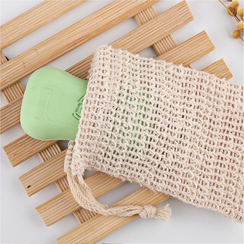 10pcs Cotton Linen Soap Remover Pouch Bag Sponge Soap Pouch 14cm x 9cm