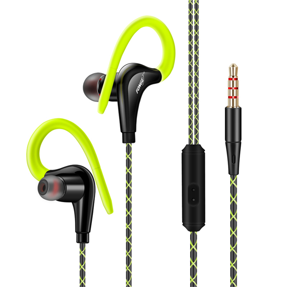 Original sport earphone super bass headphones sweatproof running headset with mic ear hook for all mobile