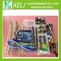 Pacote de peças genéricas Para Arduino kit + UNO R3 + MB-102 830 pontos Placa De Ensaio + 65 cabos + jumper Flexível caixa de fio