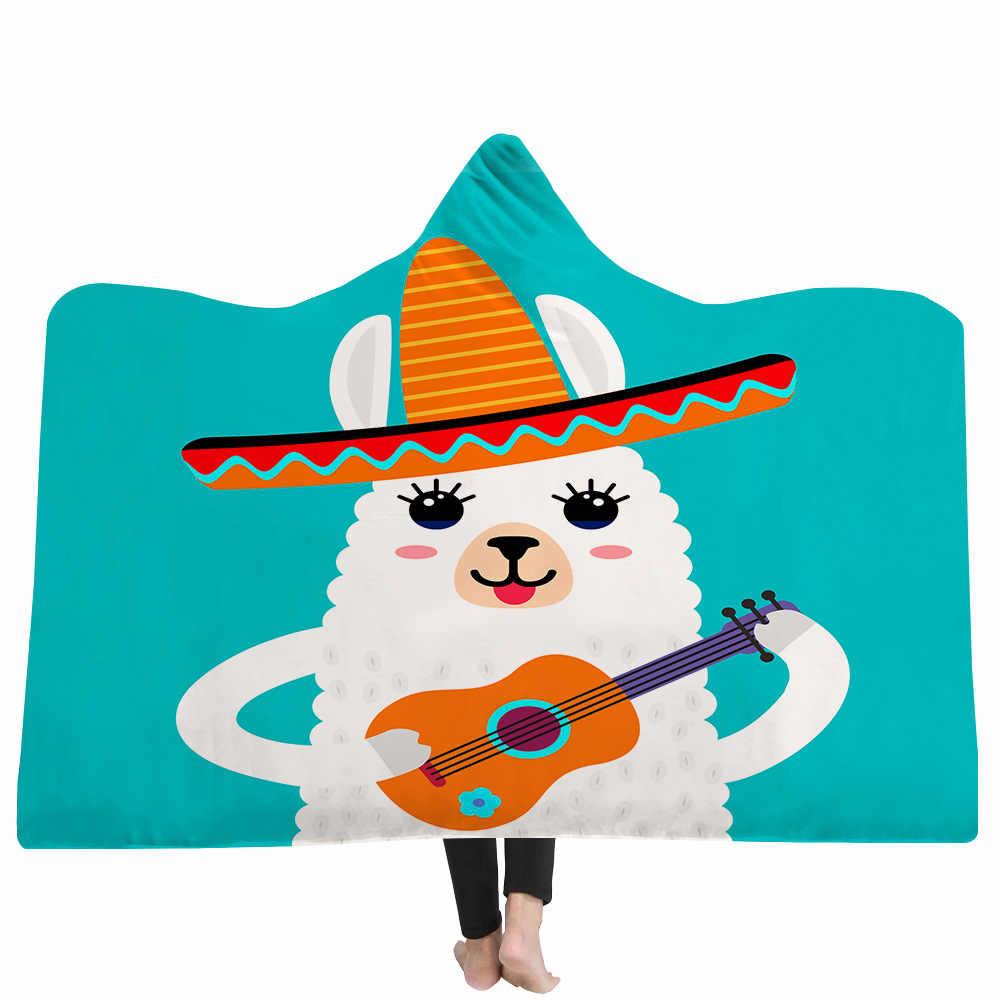 اليوغا حصيرة مقنعين بطانية عباءة قبعة سحرية بطانية سميكة طبقة مزدوجة أفخم ثلاثية الأبعاد الطباعة الرقمية سلسلة الألبكة
