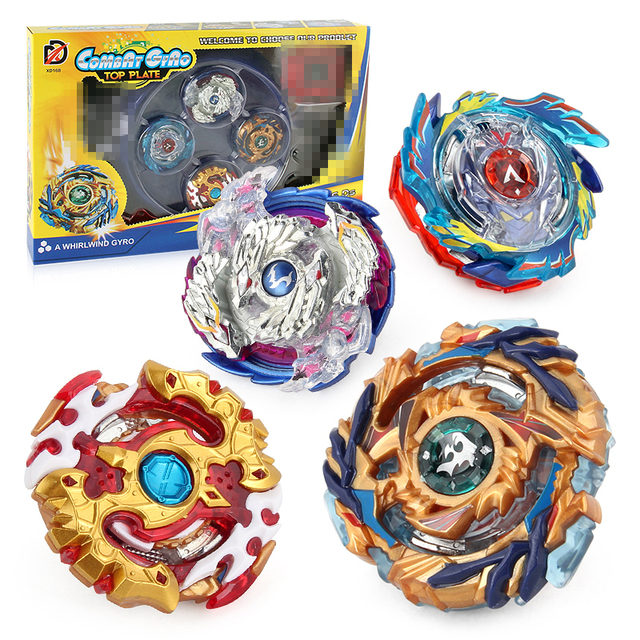 f14f1e8b6 Beyblade Set 4 Gyro+2 Launcher+1 Handle+1 Plastic Stage B73 B79 B97 B100  Brust Metal Funsion 4D Fighting Gyro Classic Toy #E
