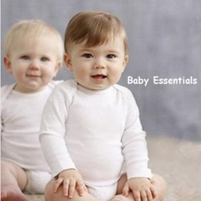 Recém-nascido-24m, 4 peça de 1 lote bebê bodysuits conjunto sólido branco manga comprida completa clothing set roupa do bebê set