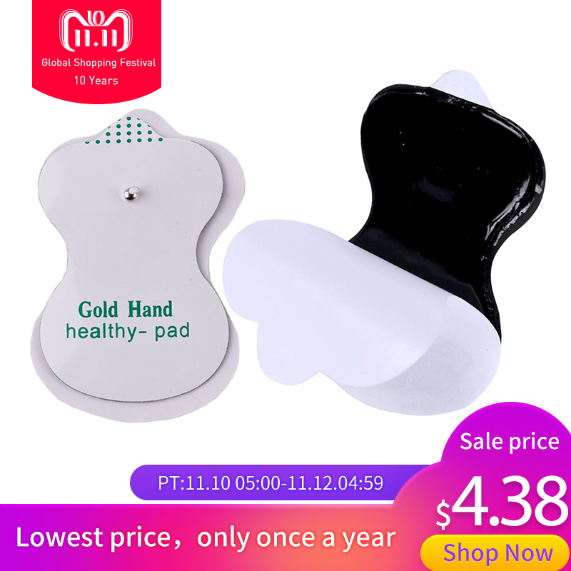 20pcs/(10 pairs/lot) Health Herald Electrode Pads For Tens Acupuncture Digital Therapy Machine Massager High Quality 20pcs electrode pads for digital tens therapy machine electronic cervical vertebra physiotherapy massager pad medium frequency