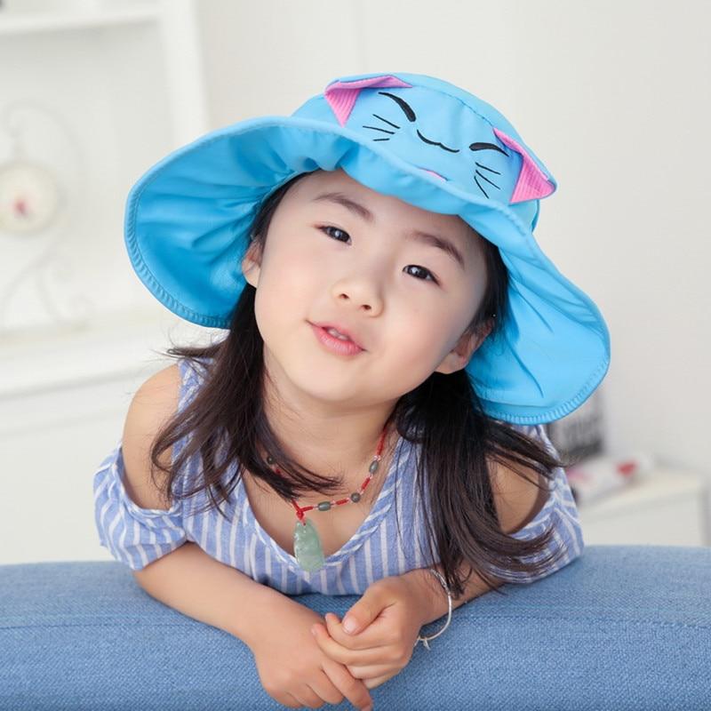 Voor kinderen van 3-8 jaar zomer tegen uv grote daksparren - Kledingaccessoires