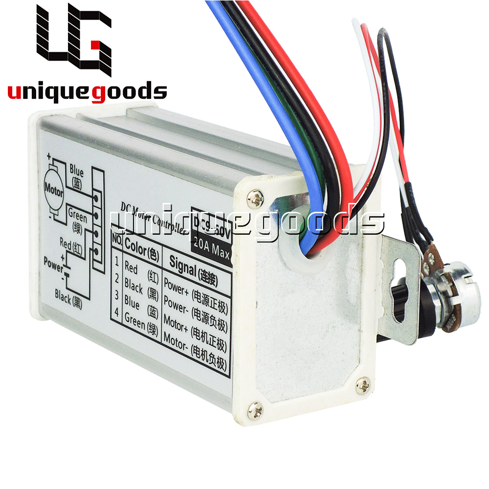 Pulse Width Modulation Pwm Dc Motor Speed Control Governor Switch 9v-60v 20a Motors & Parts Electrical Equipments & Supplies