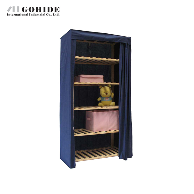 Gohide Savoring 175 X 87 X 53cm Home Solid Wood Simple Wardrobe Eco-Friendly Storage Cabinet My15758f Non-Woven Fabric Closet