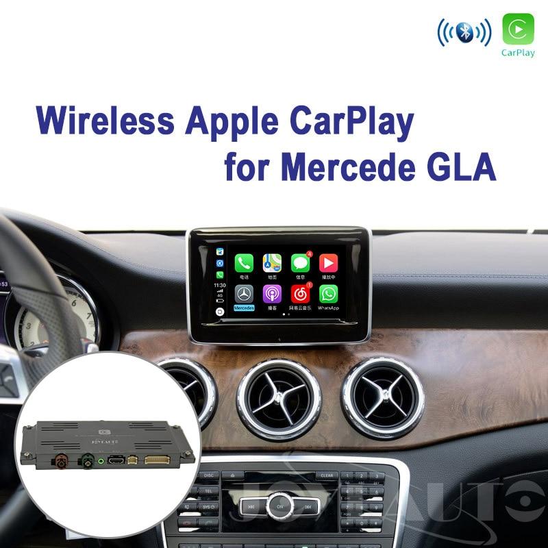 Joyeauto Wifi sans fil Apple Carplay pour Mercedes GLA classe X156 2013-2015 NTG4.5 Support de jeu de voiture caméra de recul Plug and play