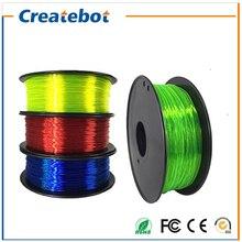 3d printer Flexible filament 1.75mm/3mm 0.8kg filament Impressora 3d Flexible Rubber filament Soft for 3D printing