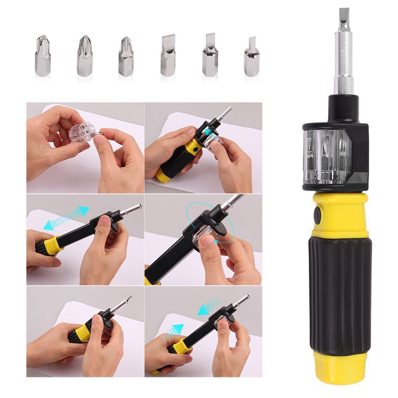 6in1 360 Degree Twist Flexible Screwdriver Bit Precision Screwdriver Screws DIY Repair Hand Tool