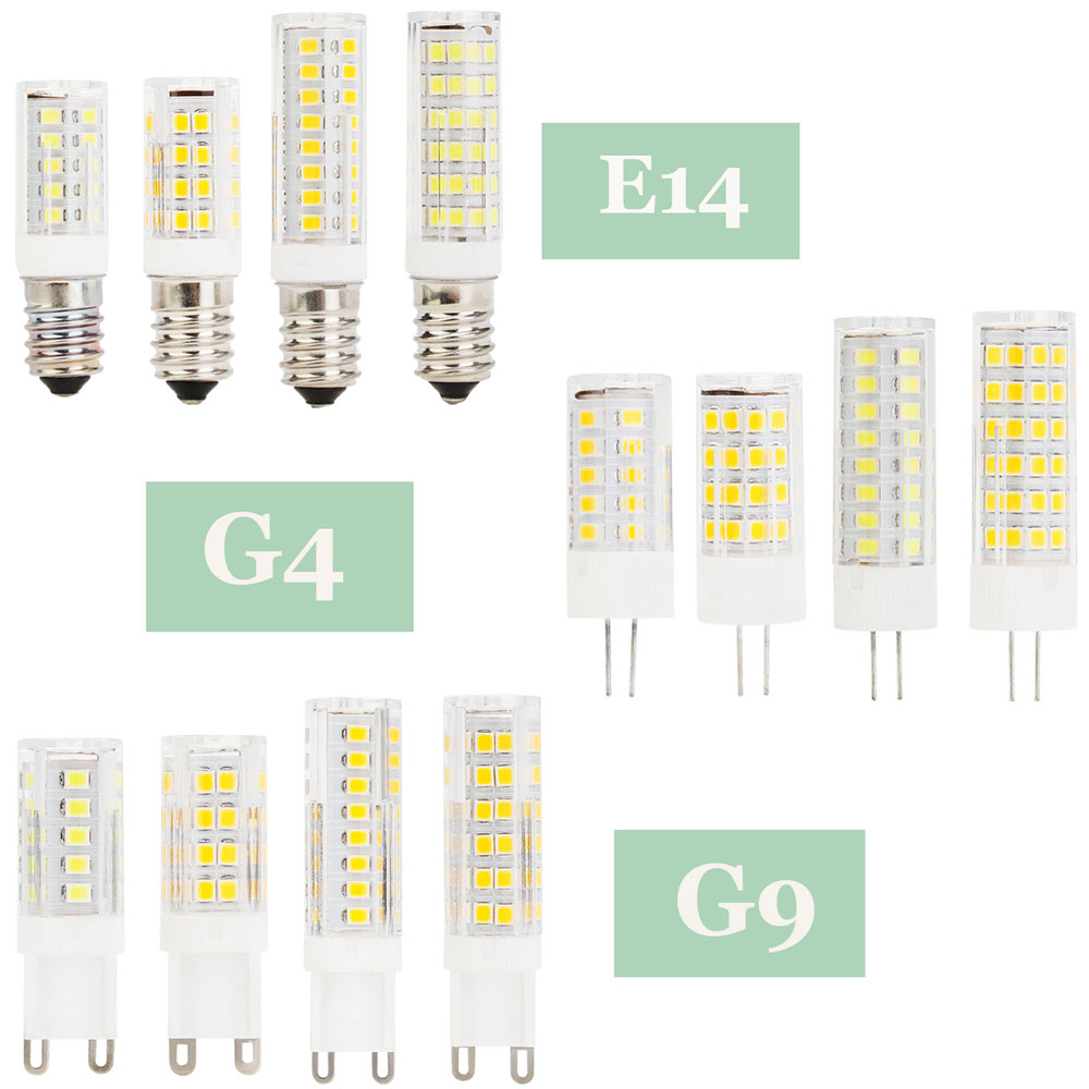 E14 G4 G9 LED Bulb Ceramic 2835SMD 5W 6W 7W 9W Led Corn Lamp Lights Replace Halogen 30w 40w 50w 60w Chandelier Light 220V