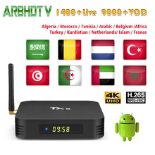 Arabic France IPTV TX6 with 1 month Free IP TV Morocco Belgium Subscription Box Android 9.0 French Full HD Turkish