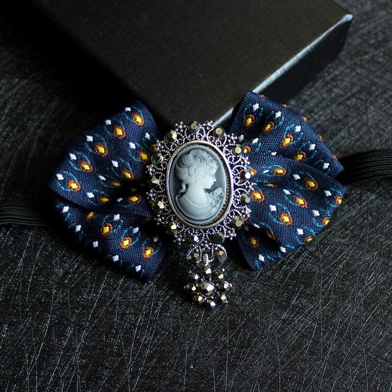 Formal Men Women Wedding Suit Collar Shirt Necktie Alloy Bow Tie Elastic Band Rhinestone Crystal Butterfly Uniform Ribbon Bowtie