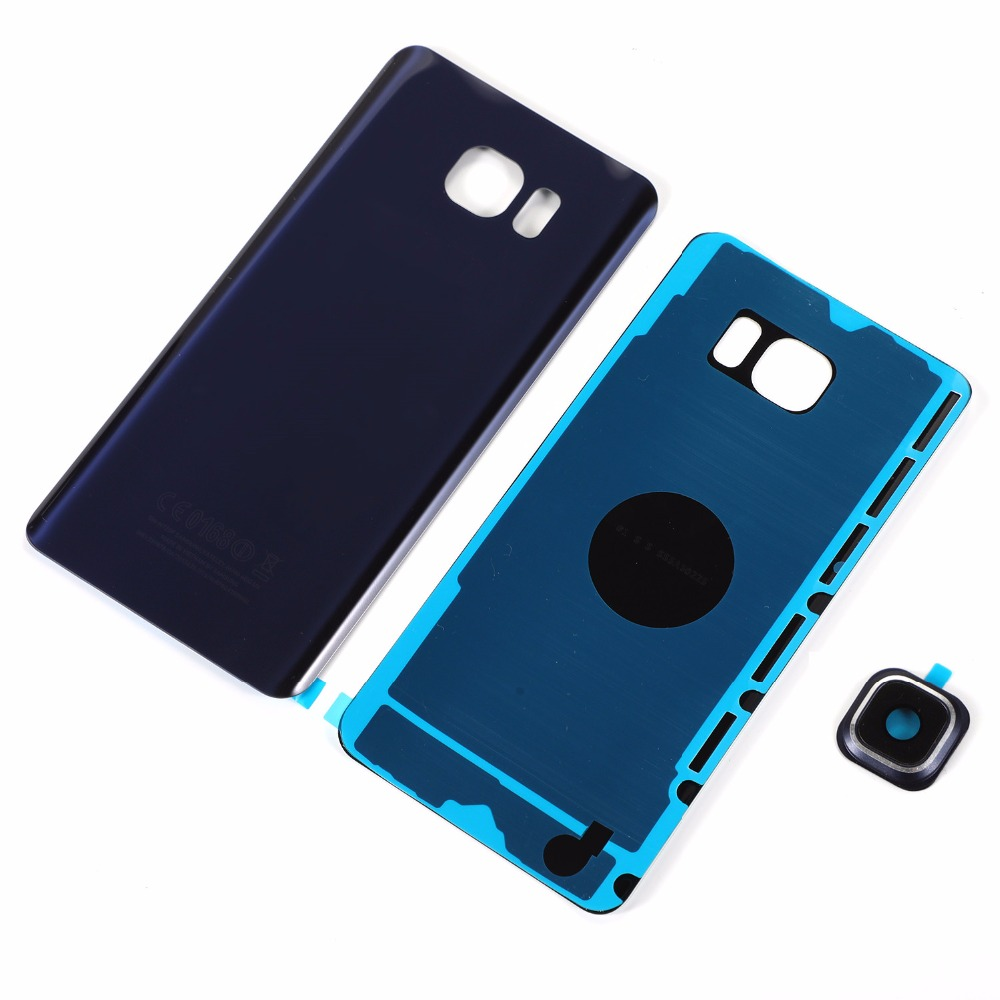 For Samsung Galaxy Note5 N920F N920 Housing Glass Back Battery Cover+Camera Lens Cover+Sticker Adhesive(NOTE 5 All Versions)